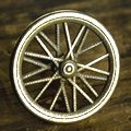 Road Bicycle Wheel Knob Antique Stainless Steel