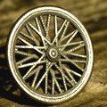 Hybrid Bicycle Wheel Knob Antique Stainless Steel