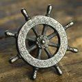 Nautical Wheel Knob Nickel