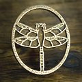 Dragonfly Oval Pull Antique Steel