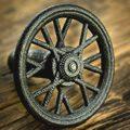 Mountain Bike Wheel Knob Black Steel