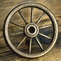 Bicycle Wheel Bronze